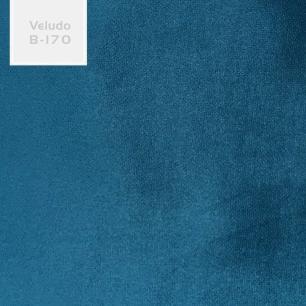 Kit 2 Poltronas Decorativa Nagoya Pés Madeira Veludo Azul - Gran Belo