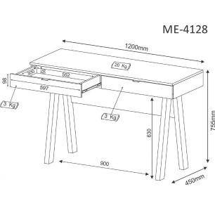 Escrivaninha para Home Office ME4128 Carvalho - Tecno Mobili