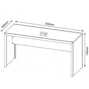 Mesa para Home Office ME4109 163cm Nogal - Tecno Mobili