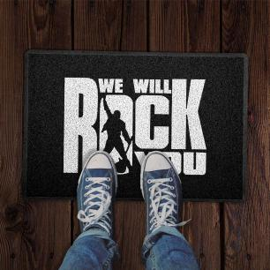 Capacho We will Rock You Preto 0,40X0,60M - Beek