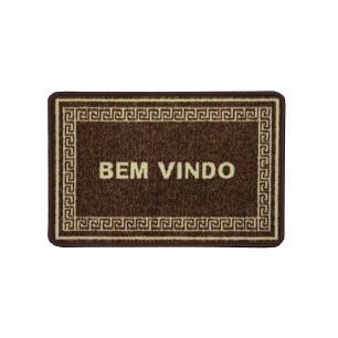 Capacho Boucle Bem Vindo Chocolate 0,40X0,60M - Niazitex