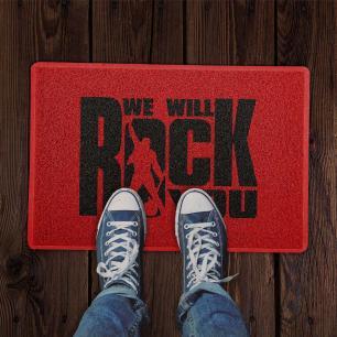 Capacho We will Rock You Vermelho 0,40X0,60M - Beek