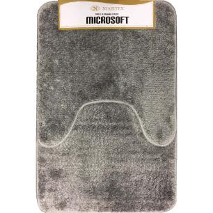 Kit Tapete Banheiro Microsoft Cinza 2 Peças - Niazitex