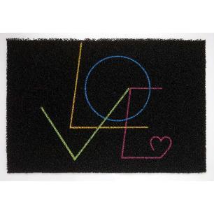 Capacho Super Print Love Preto 0,40X0,60M - Kapazi