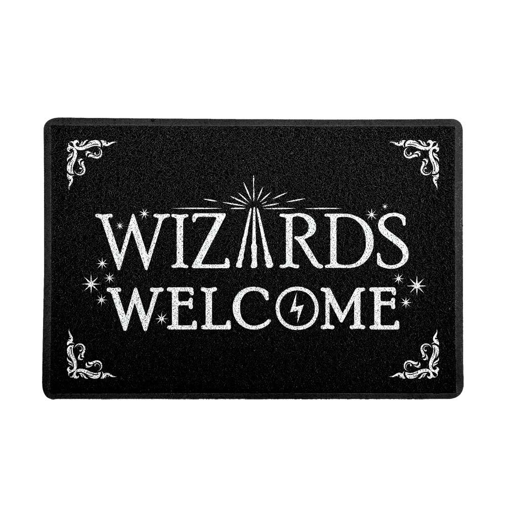 Capacho Wizards Welcome Preto 0,40X0,60M - Beek