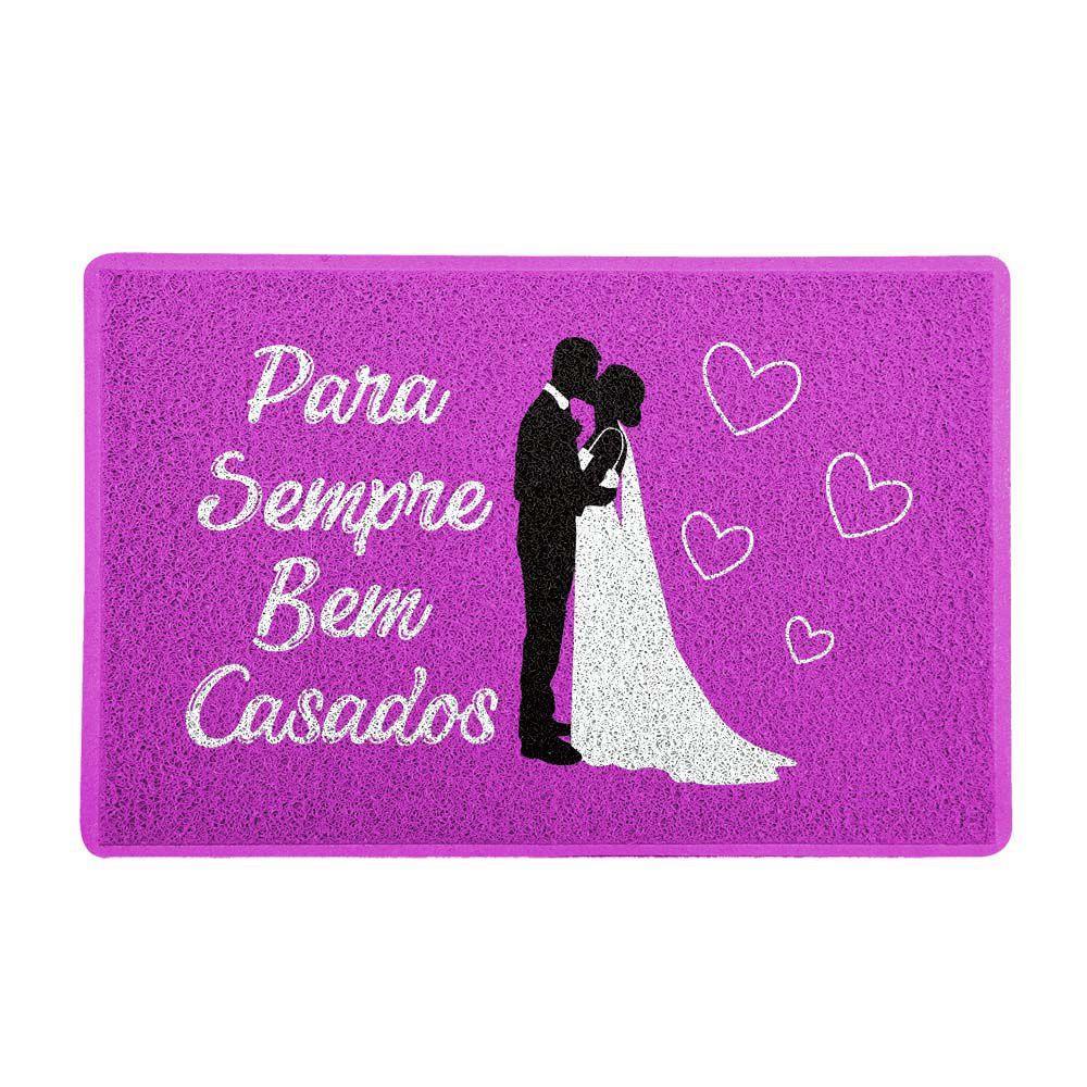 Capacho Para Sempre Bem Casados Rosa 0,40X0,60M - Beek