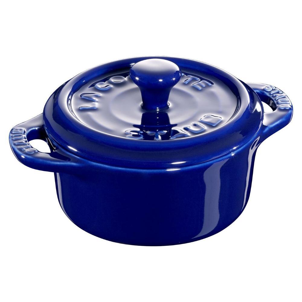 Caçarola redonda 10 cm Azul Marinho Ceramica