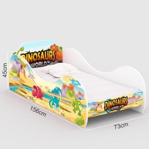 Mini Cama Dinossauro World Infantil com Colchão D20 - RPM Móveis