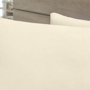 Lençol Com Elástico Cama Viúva 140 Fios 40cm Alt Algodão-pl Palha