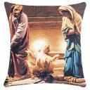 Capa De Almofada Decorativa C/ Zíper 48cm X 48cm Menino Jesus