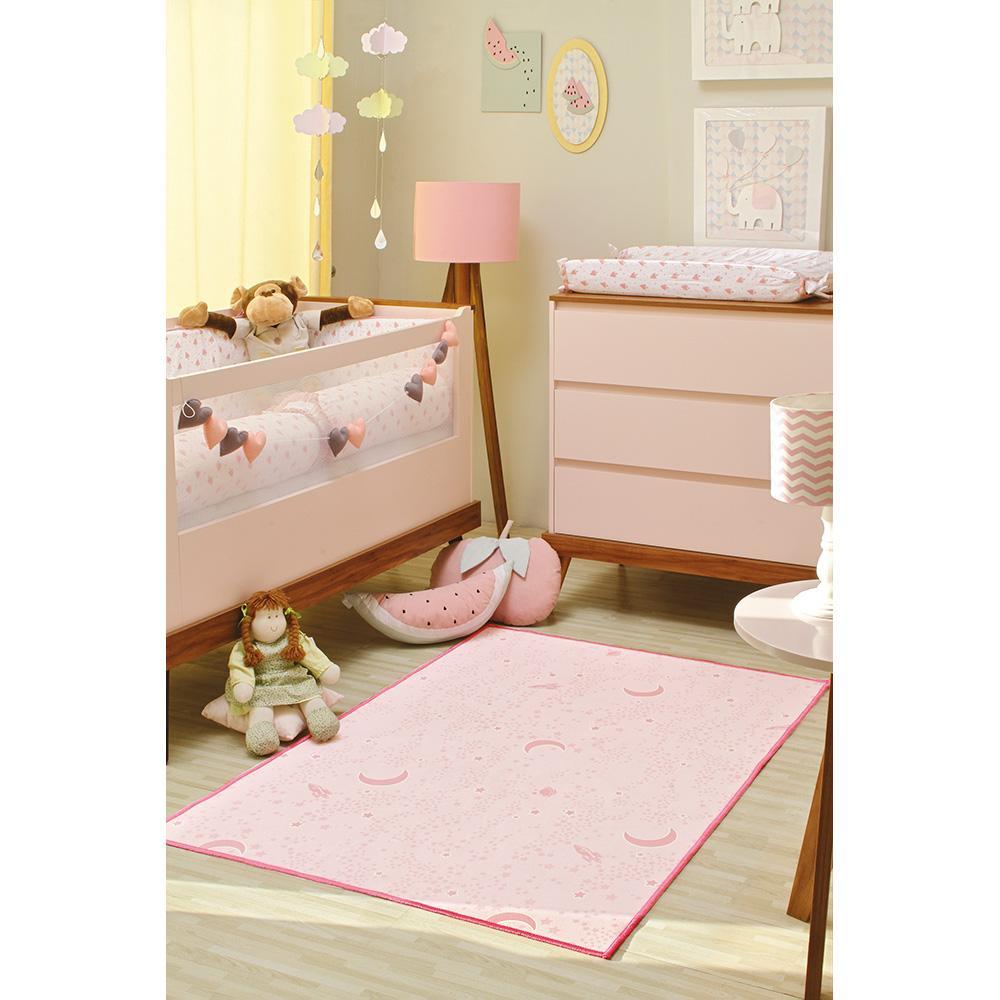 Tapete Kids Brilha No Escuro 1,00X1,40M 04 Rosa