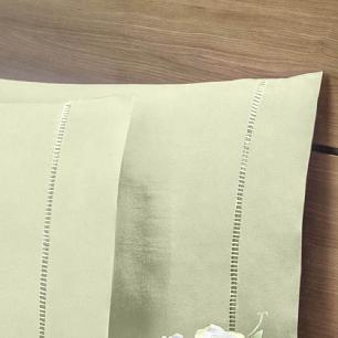 Lençol Com Elástico Cama Viúva 140 Fios 40cm Alt Algodão-pl Verde