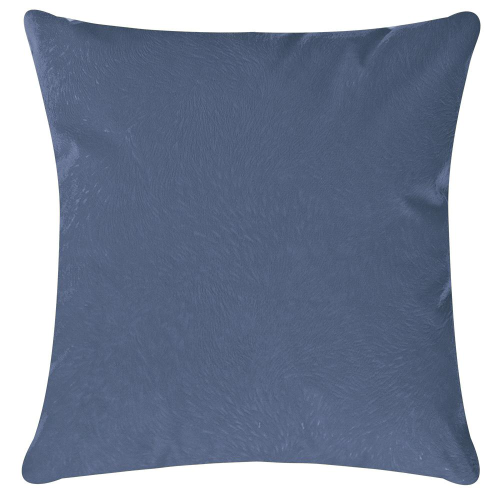 Capa Almofada Decorativa Colorida Suede C/ Zíper 45 x 45 Azul