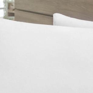 Jogo de Lençol Cama Viúva 3pçs 140 Fios p.palito Algodão-pl Branco
