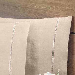 Lençol Com Elástico Cama Viúva 140 Fios 40cm Alt Algodão-pl Cáqui