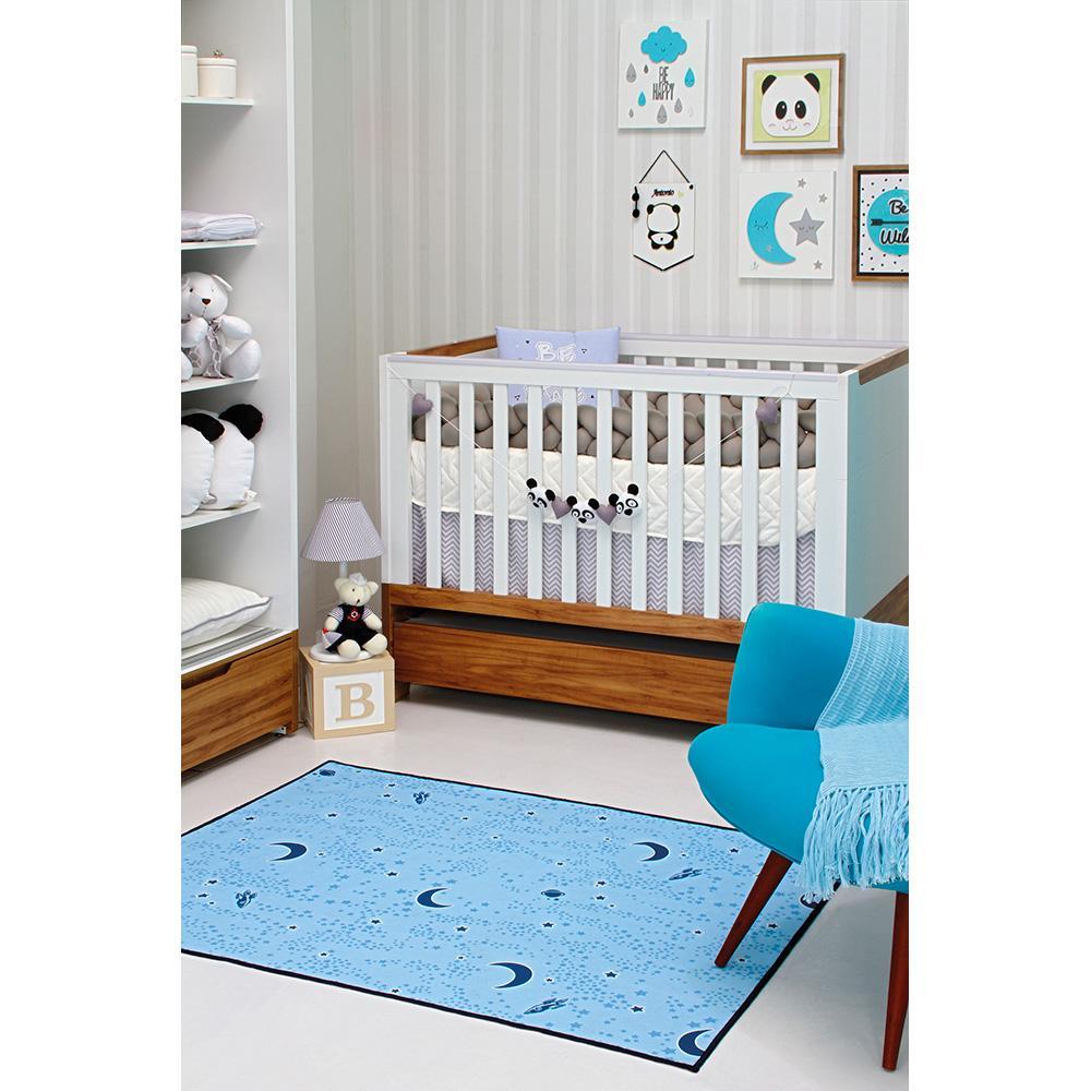 Tapete Kids Brilha No Escuro 1,00X1,40M 03 Azul