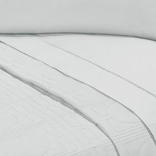 Lençol Sem Elástico Cama Viúva Percal 200Fios Com Vira 35cm Cinza