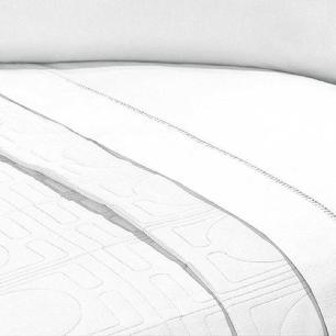 Jogo de Lençol Cama Viúva 4pçs Percal 400 Fios Ponto Palito Branco
