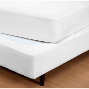 Capa para Box Cama King Size Malha 30/1 100% Algodão Branco