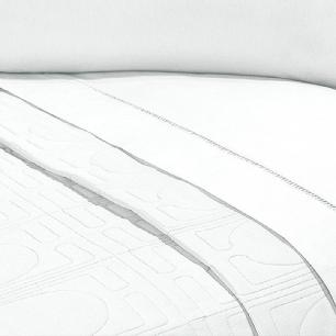 Lençol Sem Elástico Solteiro King Percal 200Fios C Vira 35cm Branco