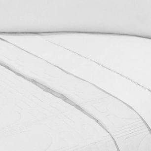 Lençol Sem Elástico Solteiro King 140Fios C Vira Algodão-pl Branco