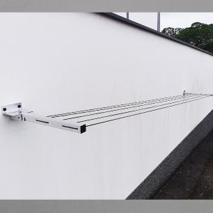 Varal de Roupa Articulado Retratil Parede até 4 MT Aluminio
