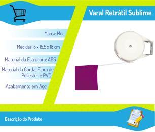 Varal Retratil 1 Corda Multiangular Recolhivel 12 Metros