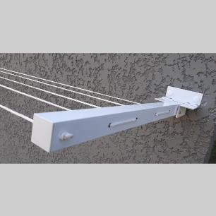 Varal de Roupa Reforçado 60 Kg Retrátil Alumínio Articulado até 4 MT