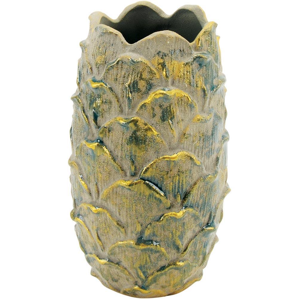 Vaso Cerâmica Verde Home&Co Chryso 26X15X15Cm