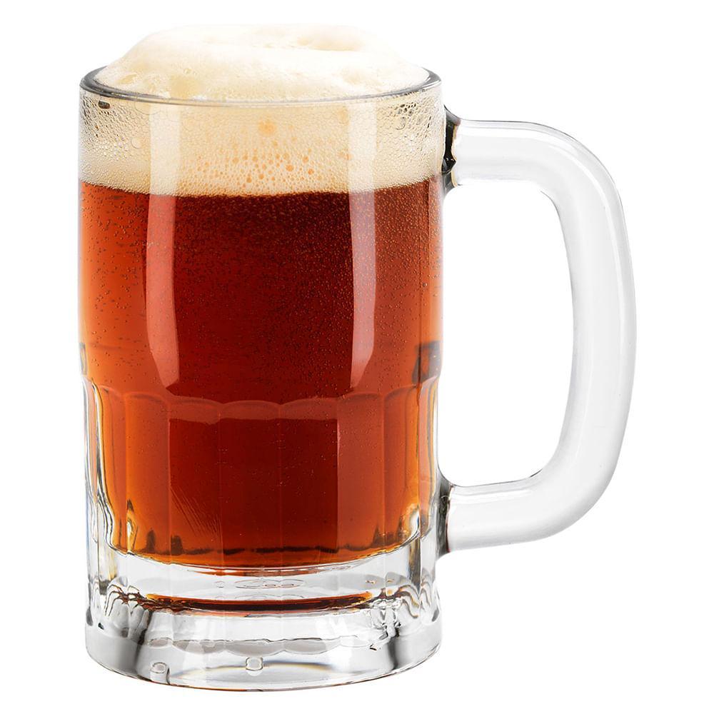 Caneca Cerveja 12 peças Vidro Transparente 350Ml Libbey 13X8X8Cm