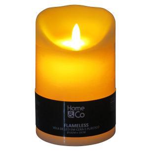 Vela Led Plástico Marfim Home&Co Flameless 15X10X10Cm