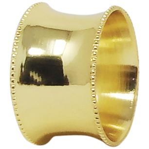 Anel Guardanapo 4 peças Metal Dourado Home&Co 3X5X5Cm