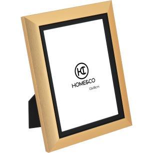 Porta-Retratos Plástico Dourado 13X18 Home&Co Viktor 23X17X2Cm
