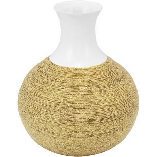 Vaso Cerâmica Dourado Amber 34X26X26Cm