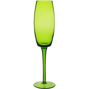 Taça Champanhe 6 peças Vidro Verde 230Ml Helga 25X7X7Cm