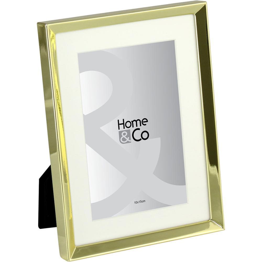 Cenario Porta-Retratos Metal Dourado 10X15 Home&Co 20X15X2Cm