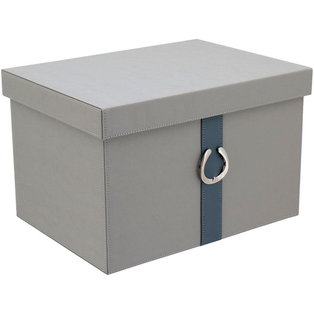 Caixa Organizadora Sintético Cinza 2 Peças Home&Co Saturno
