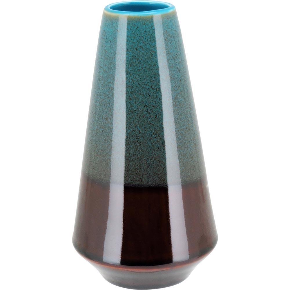 Vaso 21X11X11Cm Cerâmica Azul Java