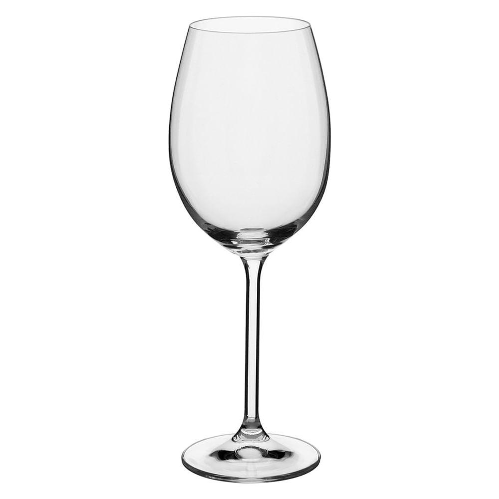 Taça Vinho 6 peças Cristal Transparente 450Ml Bohemia Enoteca 24X9X9Cm