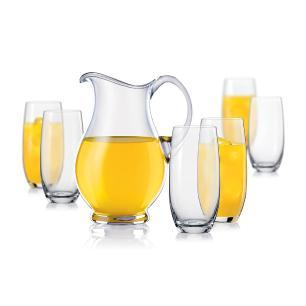 Jogo Jarra/Copos 7 peças Cristal Transparente 1,5L/350Ml Bohemia Lemonade
