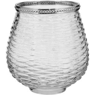 Castiçal Vidro Transparente Norah 14X13X13Cm