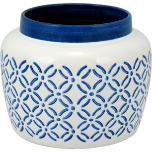 Vaso Cerâmica Azul Zanquito 18X23X23Cm