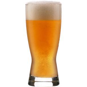 Copo Cerveja 12 peças Vidro Transparente 320Ml Crisa Bravo 15X7X7Cm
