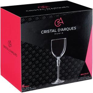 Taça Água 6 peças Cristal Transparente 310Ml Bracelet 23X8X8Cm