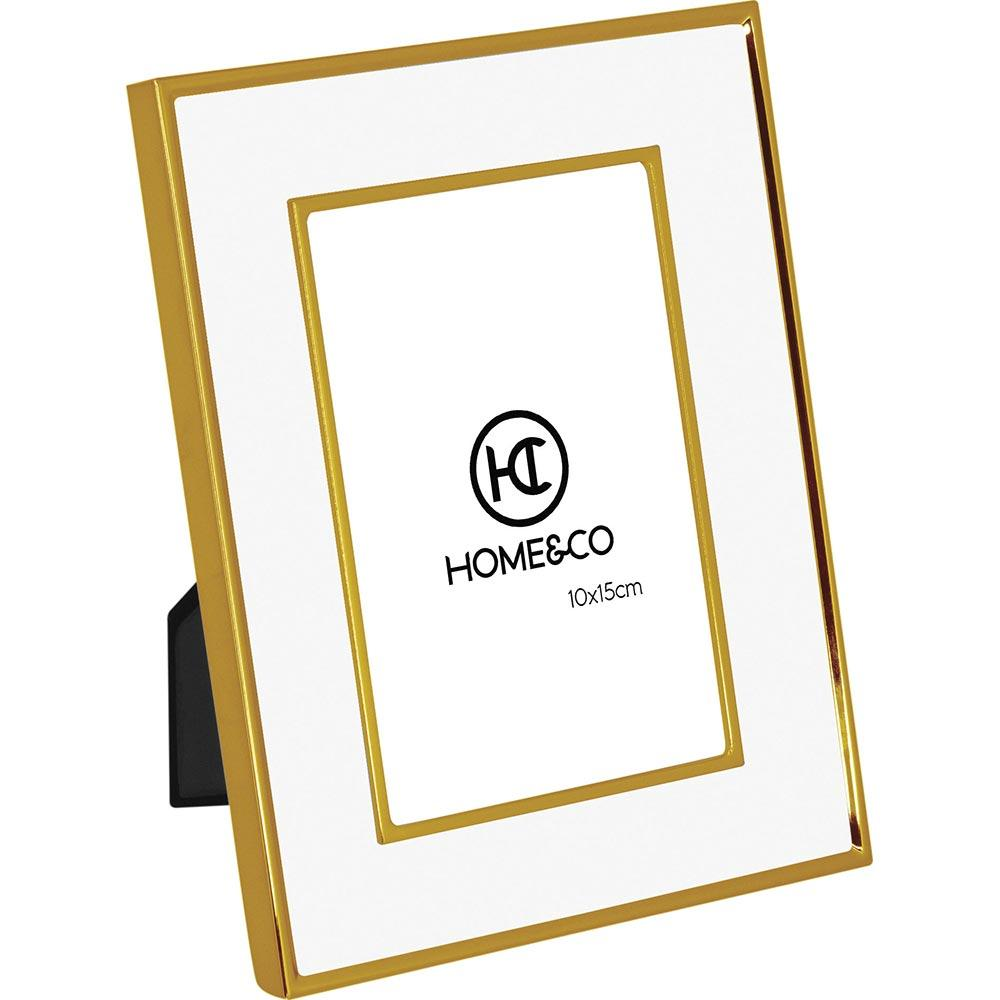 Porta-Retratos Metal Dourado 10X15 Home&Co Lundi 20X15X3Cm