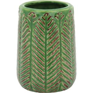 Vaso Cerâmica Verde Crispin 9X6X6Cm