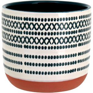 Cachepô Cerâmica Azul Guido 13X15X15Cm