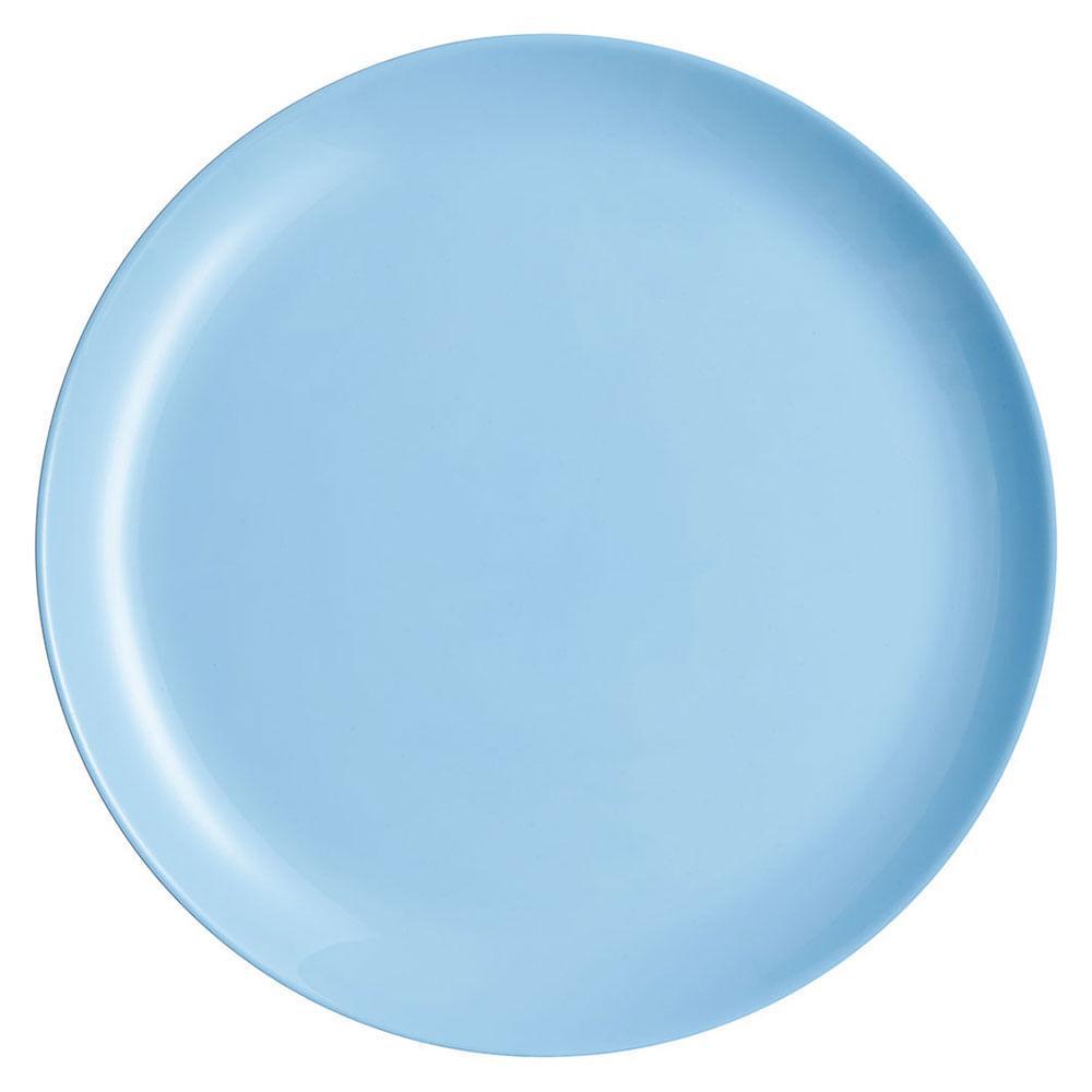 Prato Raso 6 Peças Vidro Temperado Azul Luminarc Diwali 2X27X27Cm