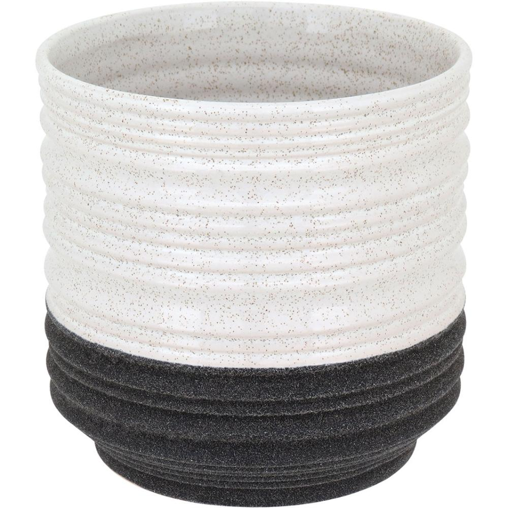 Cachepô Cerâmica Branco Macao 17X18X18Cm