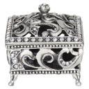 Porta Jóias Metal Prata Home&Co Relique 6X6X6Cm